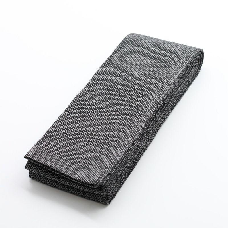角帯 正絹 米沢織物 つばさ 黒