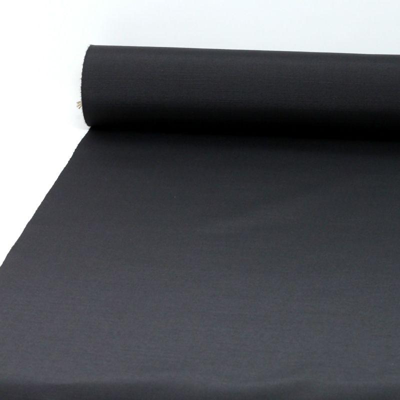 袴 男 正絹 米沢織物 紬 黒