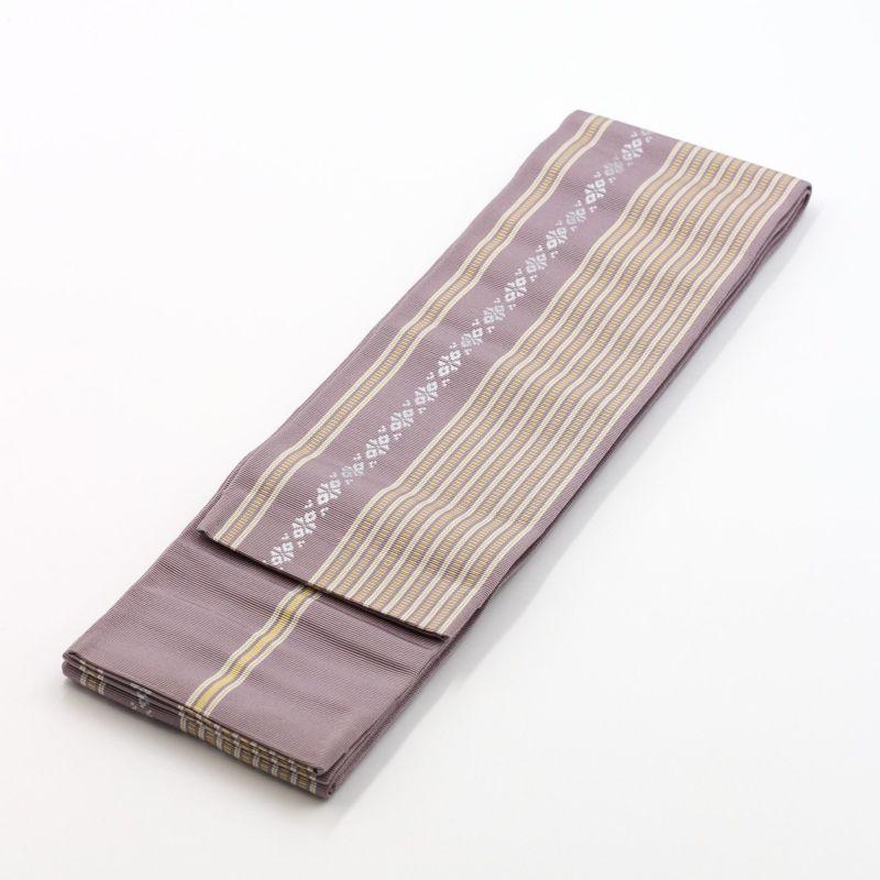 角帯 正絹 博多織物 紫