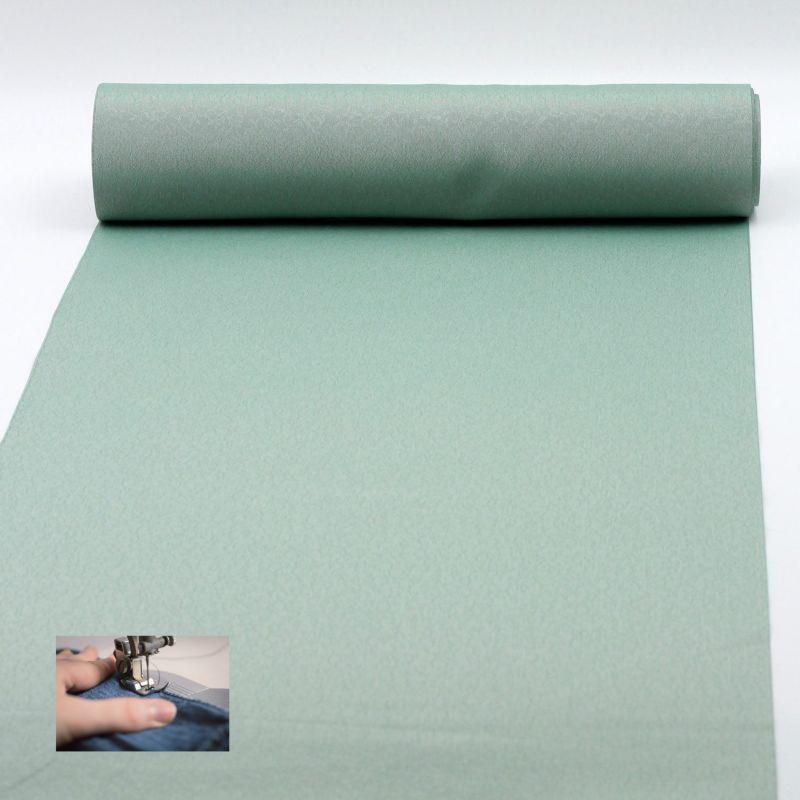 仕立てオーダー着物(もしくは羽織) 洗える着物 小紋 紋意匠 色無地 ハナエモリ 青竹色